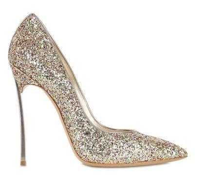 Casadei 'Blade' pumps in gold glitter