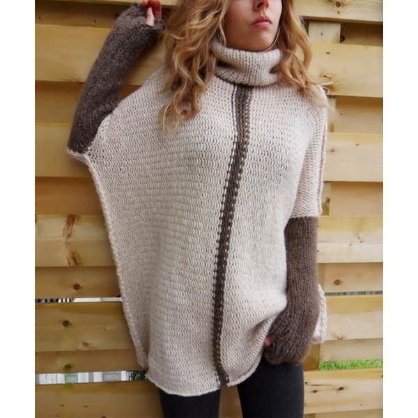 Oshlen Oversized Roll Neck Batwing Sweater Products Pinterest