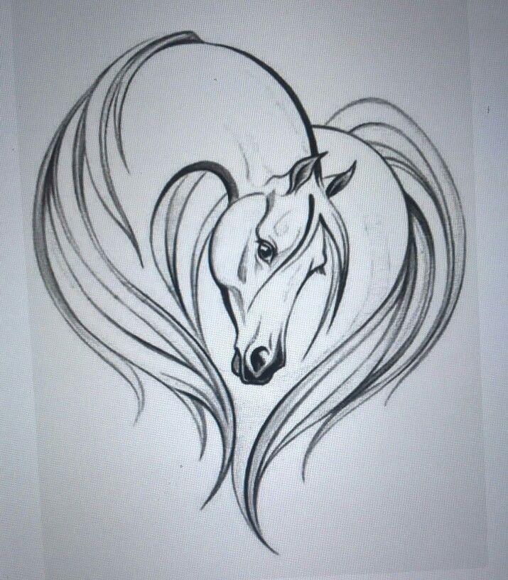 Horse Heart Seashells Pinterest Cricut Svg File And Stenciling