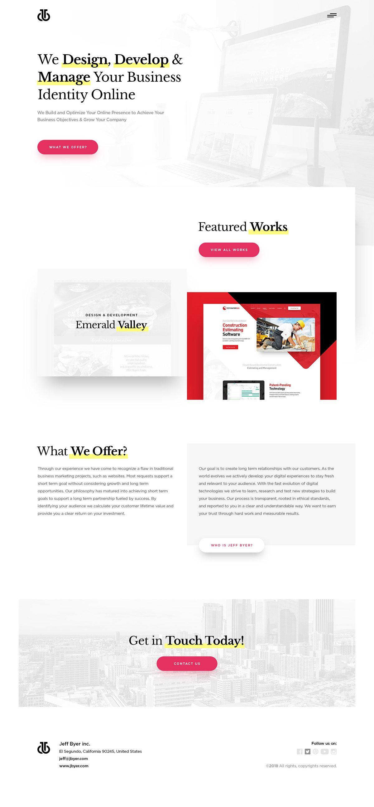2018 Web Design On Behance Web Design Web Design Company Design