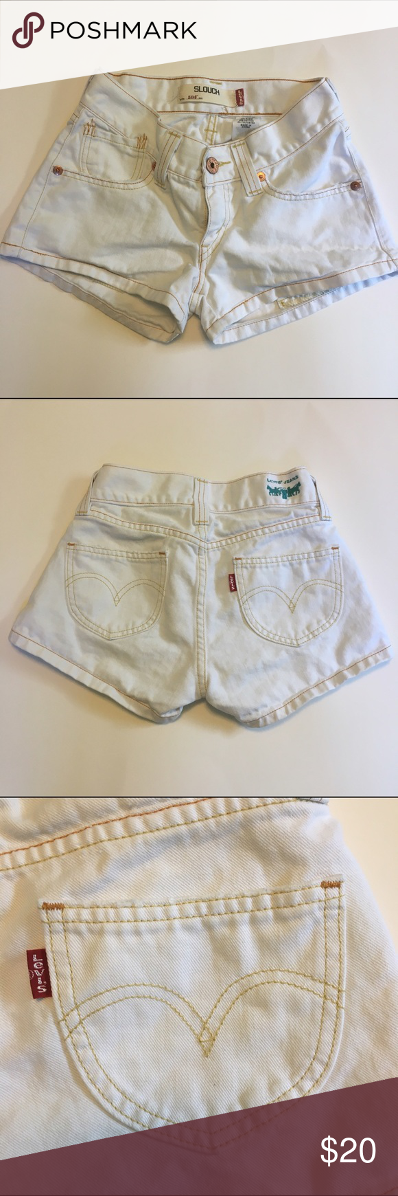 Levi's White Shorts - Size 1 Levi's White Shorts - Size 1    ** Remember to bundle and save! ** Levi's Shorts