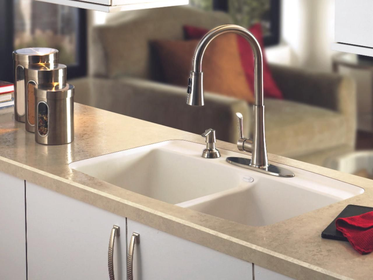 Explore info on laminate bathroom countertops and get ready to install an economical and easy to maintain countertop in your bath space