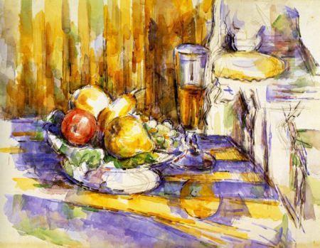Dessert Le Dessert 1900 06 Watercolour By Paul Cezanne 画像