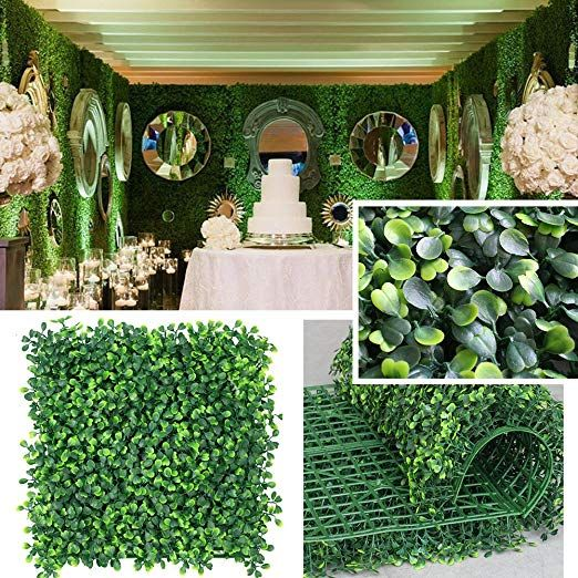 Petgrow Realistic & Thick Artificial Hedge Boxwood Fence