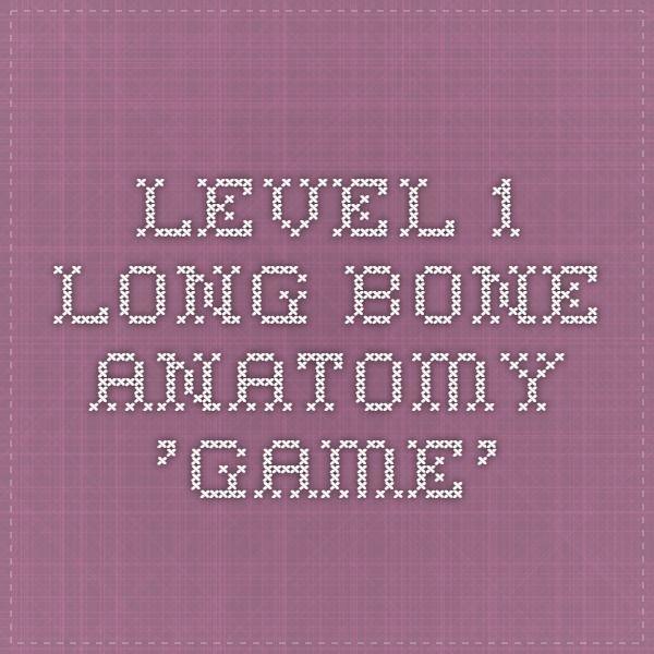 Level 1 Long Bone Anatomy Game Anatomy Pinterest Anatomy And