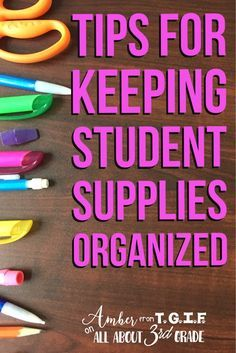 Pencils, Marker, Glue Sticks, Oh My!  I was at my wits end when my students were saying they couldn't find their everyday supplies.  Come see how one little transformation made our room a happy classroom environment because my students ALL know where their supplies are and find them quickly.