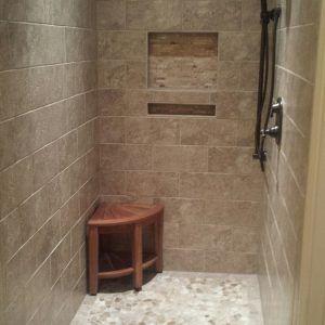 Charmant Pebble Stone Tile Bathroom Ideas