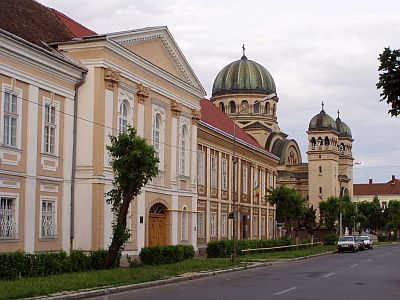 Satu Mare: The large Orthodox Church of the Archangels.  Romania