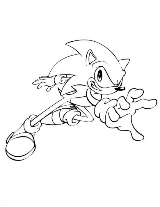 Sonic The Hedgehog Reaching Coloring Page