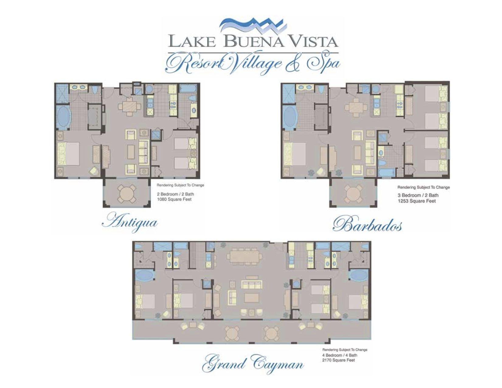 Lake Buena Vista Resort Village And Spa Room Layout