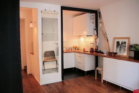 Une cuisine ouverte sur le salon petite cuisine graphiques et cuisines - Cuisine ouverte sur salon petite surface ...