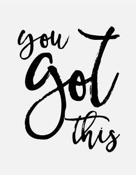 You got this print motivational printable quote printable   Etsy