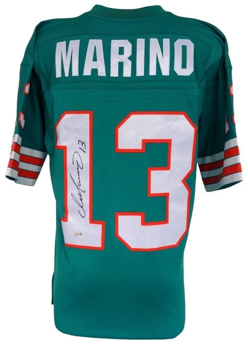 acebe287 Dan Marino Signed Miami Dolphins Replica Mitchell & Ness Jersey ...