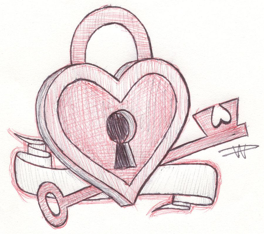 Heart Sketches | key to my heart sketch by ~FalloutLuver13 ...
