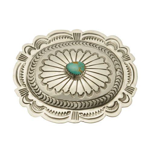b9d1507bbc8f Boucle de ceinture Navajo, turquoise sur argent. Harpo Paris ...