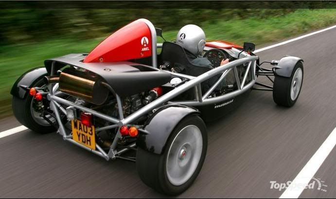Just for the pure fun of it: Ariel Atom. 0-60 in 2.7 seconds ...