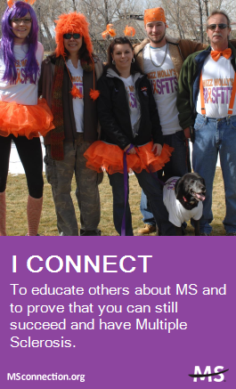 Every connection counts. Share why you connect at MSconnection.org. #MSconnection