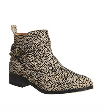 Buy Leopard Flocked Suede Office Instinct Ankle Boots from OFFICE.co.uk.