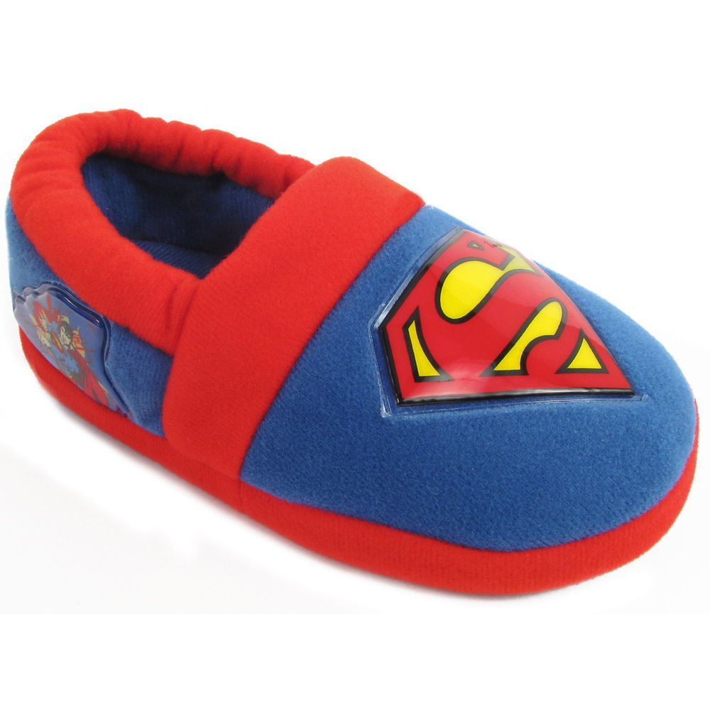 DC Comics kids slipper socks  Superman  Size 9-12