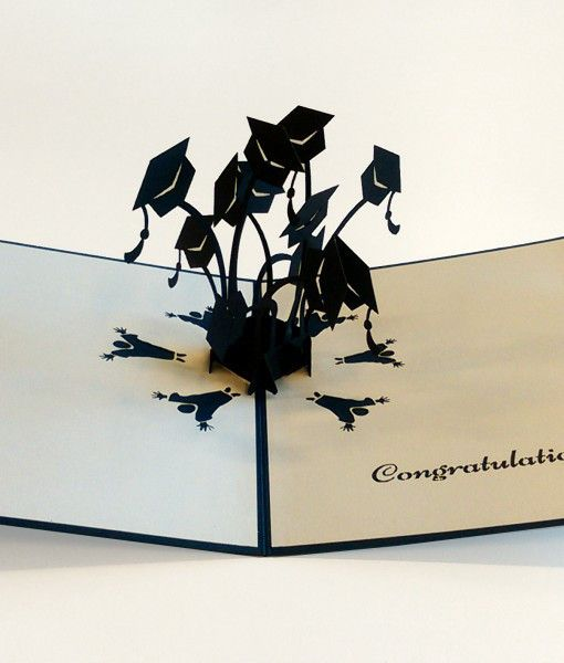 Graduation Hats Graduation Cards Diy Paper Art Cards