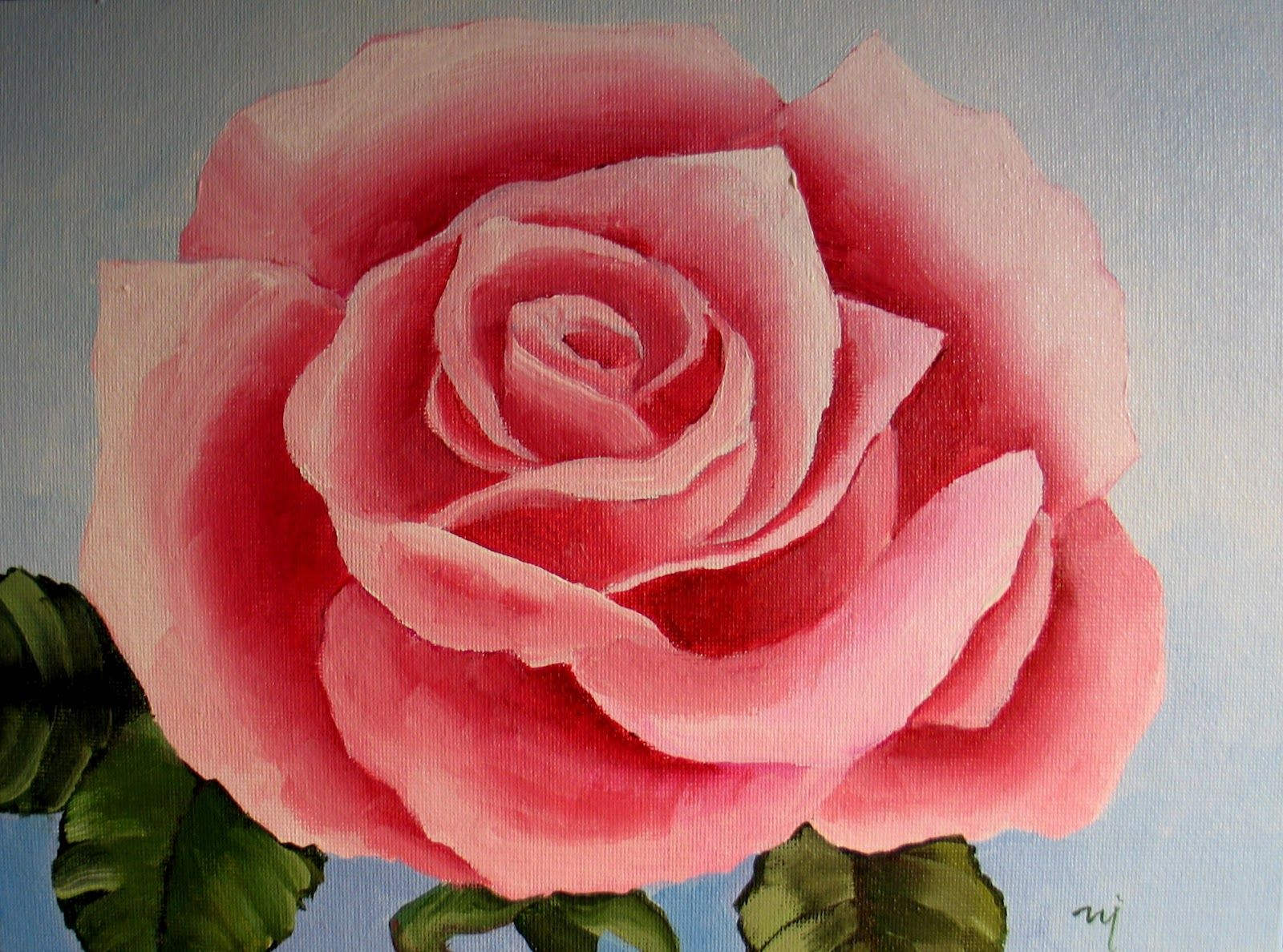Roses: Searching for Simple - SOLD | Rose painting acrylic ...