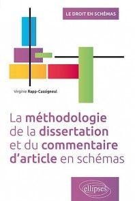 Methodologie De La Dissertation Et Du Commentaire D Article En Schema V Rapp Cassigneul Ellipse 9782340008953 Bar Chart Good Book Juridique Pdf
