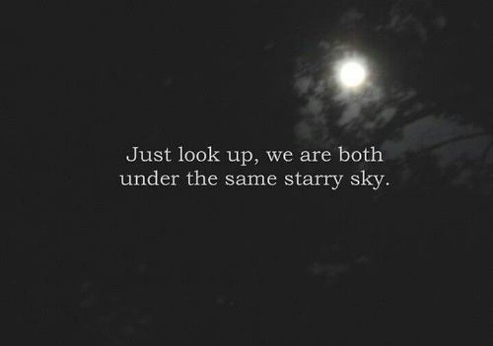 We Are Both Under The Same Starry Sky Color Of Love Pinterest