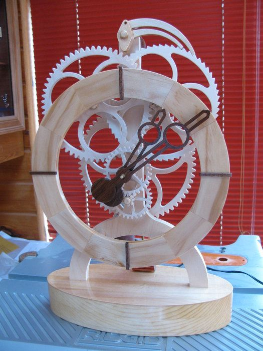Toucan Wood Geared Electromagnetic Clock By