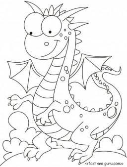 Printable Dragon Tales Cartoon Network Coloring Pages By Tunmunda