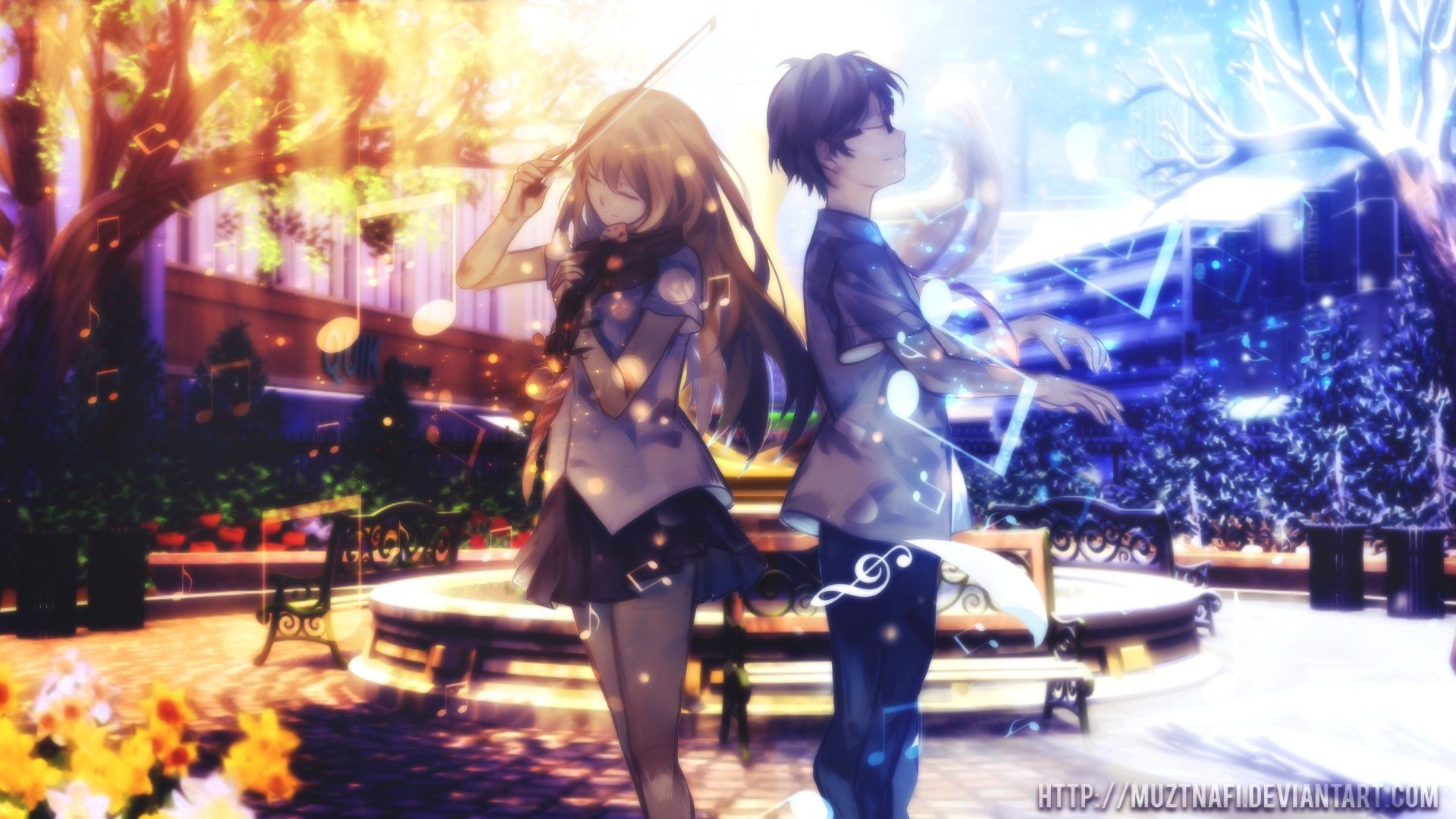 903 Shigatsu Wa Kimi No Uso Hd Wallpapers And Background Images Download For Free On All Your Devices Co Anime Triste Casal Anime Desenhos Romanticos Tumblr