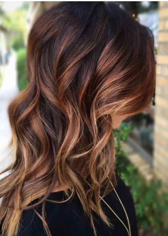 The 25 Best Copper Balayage Brunette Ideas On Pinterest
