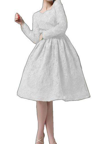 Sleeved Vintage Style Pleated Lace Slim Dress X ()