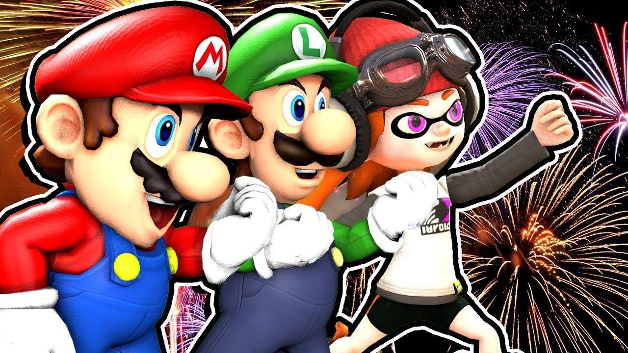 Smg4 New Year New Mario Youtube Mario Funny Gif Newyear