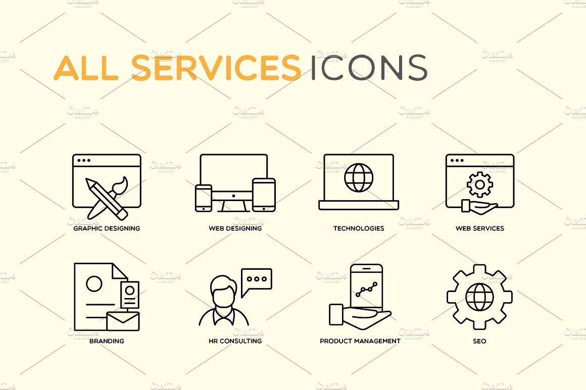 Most Essential Services Icons Graphic Design Branding Web Development Software Custom Icons