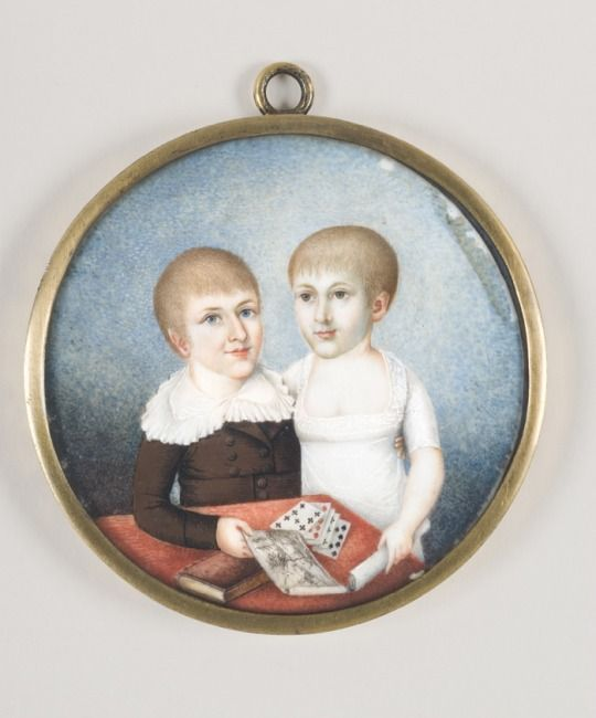 Unknown artist: Siblings, early 18th century Sweden.