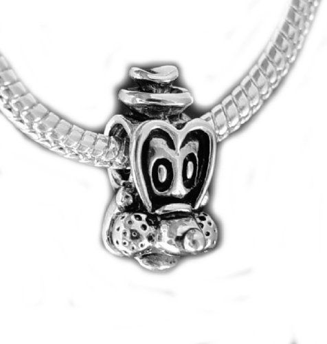 Princess Disney Castle Silver Bead Fits Pandora Chamilia Etc Sterling Charms Bracelets Necklaces WSgEQ9