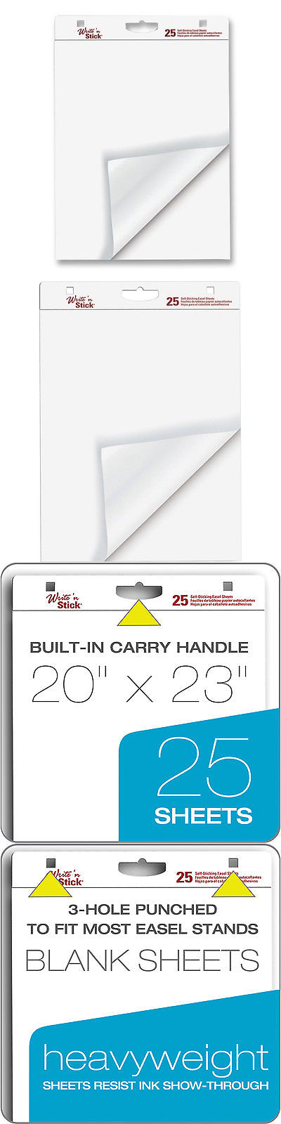 Art Paper 57208 Ampad Recycled Easel Pad - 50 Sheet - 27 X 34 - 2 - ebay spreadsheet