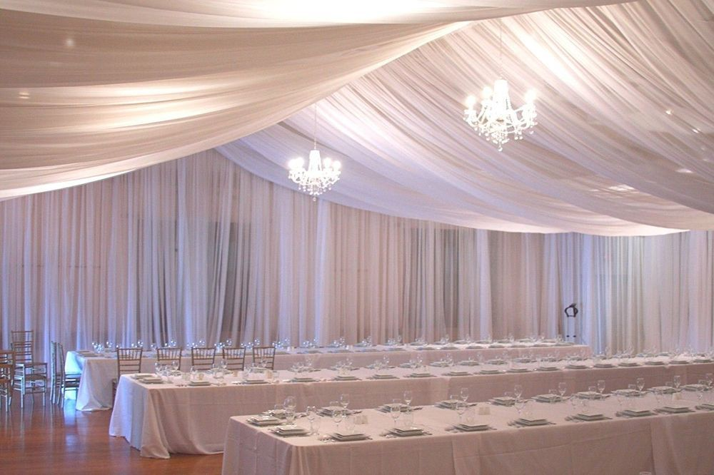 Ceiling Draping Sheer Chiffon Voile Drape Panel Backdrop Wall Divider Wedding Ebay Ceiling Draping Fabric Ceiling Wall Drapes
