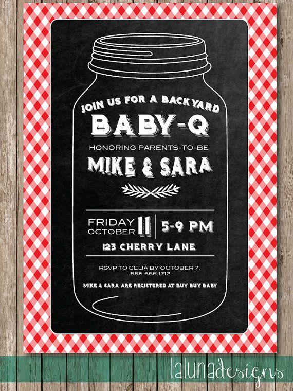 Baby Q Shower Invite Barbecue Invite Barbecue By LaLunaDesigns