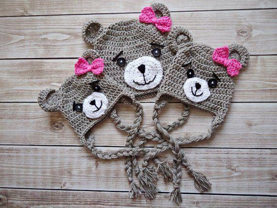 Crochet teddy bear Hat 7a60b22dee5