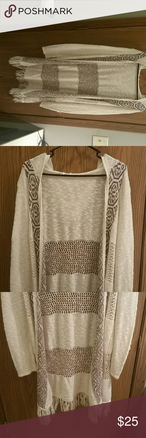 Cardigan size 0 Maurices in cream Very long cardigan, cream color ...