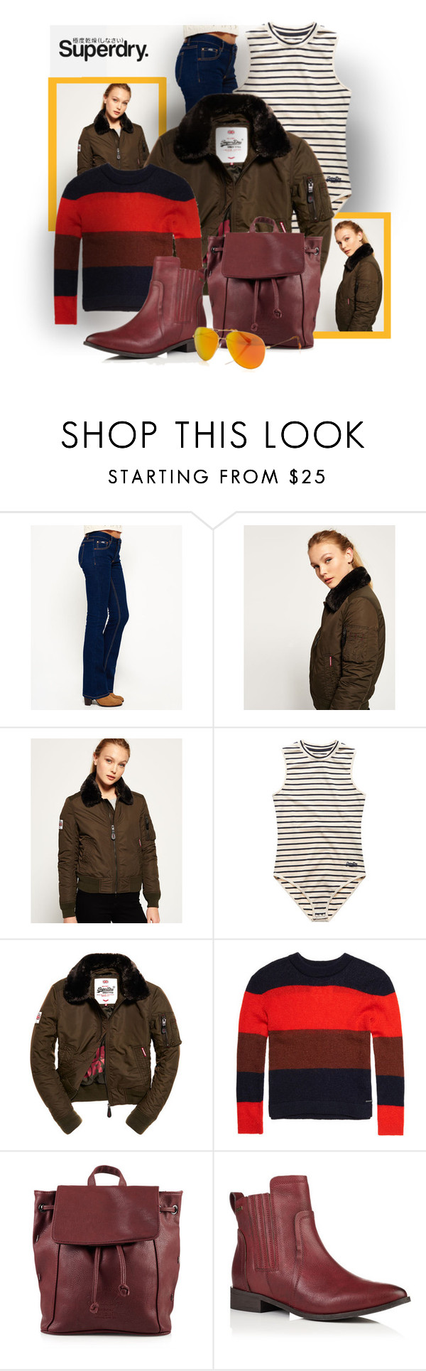 """""""Superdry. Cool."""" by interesting-times ❤ liked on Polyvore featuring Superdry and MySuperdry"""