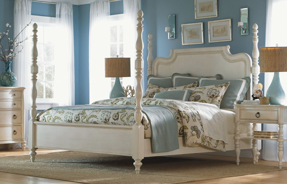 Legacy Classic Furniture   Glen Cove Complete High/Low Poster Bed In White