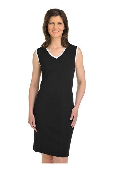 Tan Jay:  Sleevelesss V-Neck Dress