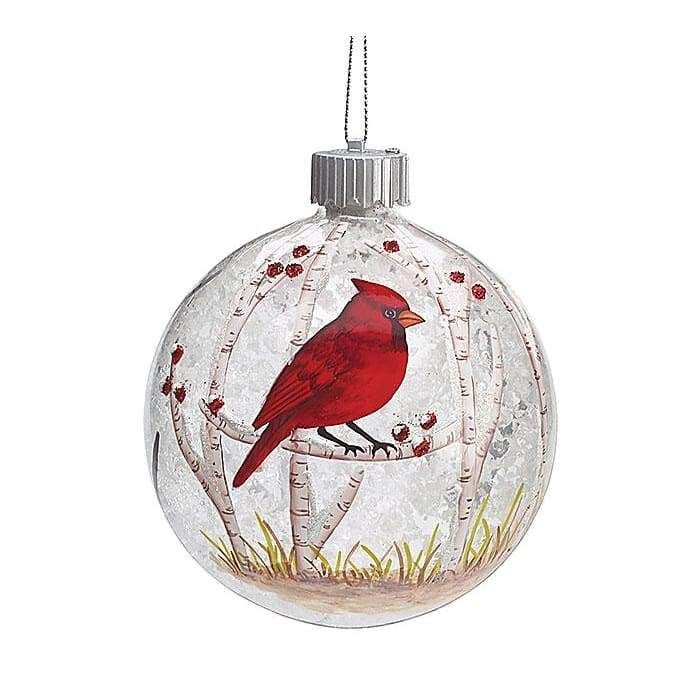 Christmas Led Red Cardinal Christmas Ornament