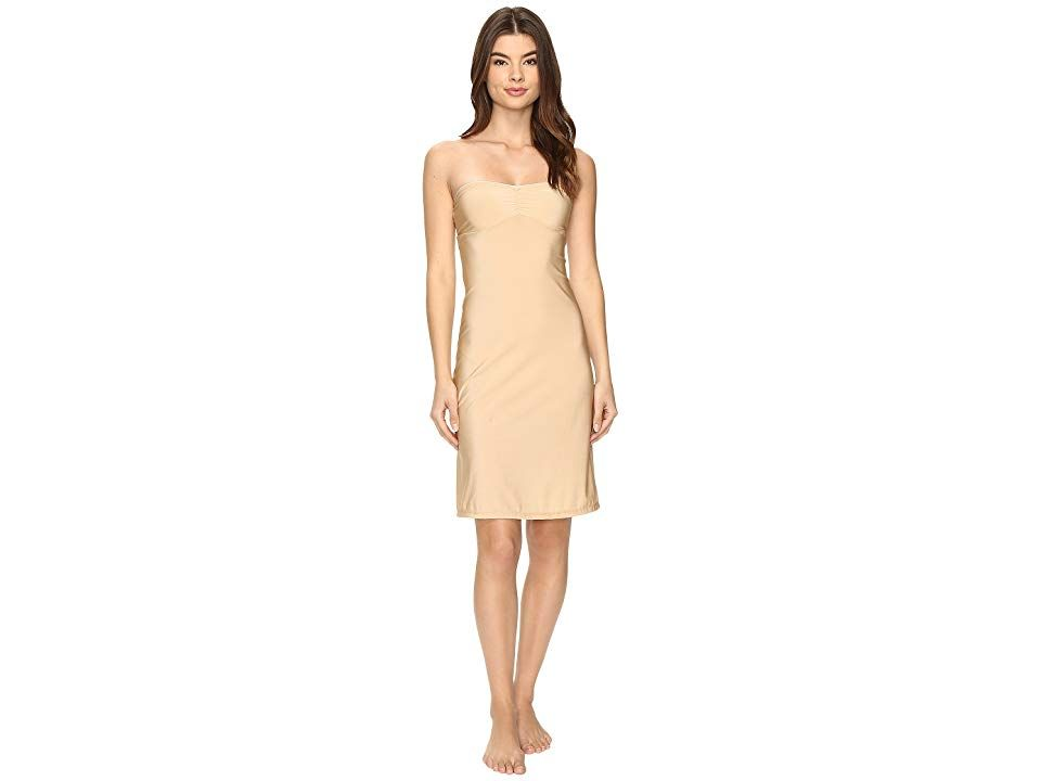 81169e3b8ed1 Only Hearts Second Skins Strapless Chemise (Nude) Women's Pajama.  All-in-one slips lets you wear a sheer or body-hugging dress without a bra.