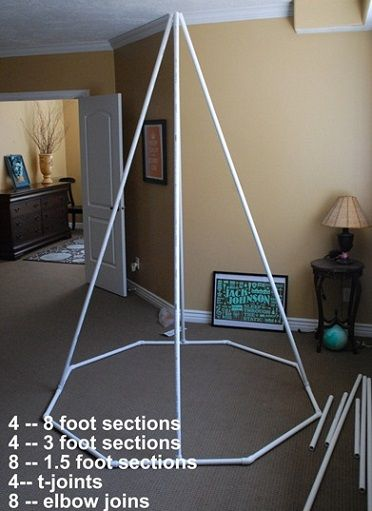 como-hacer-tienda-campana-casera-tubos.jpg (372×511) | craft ...