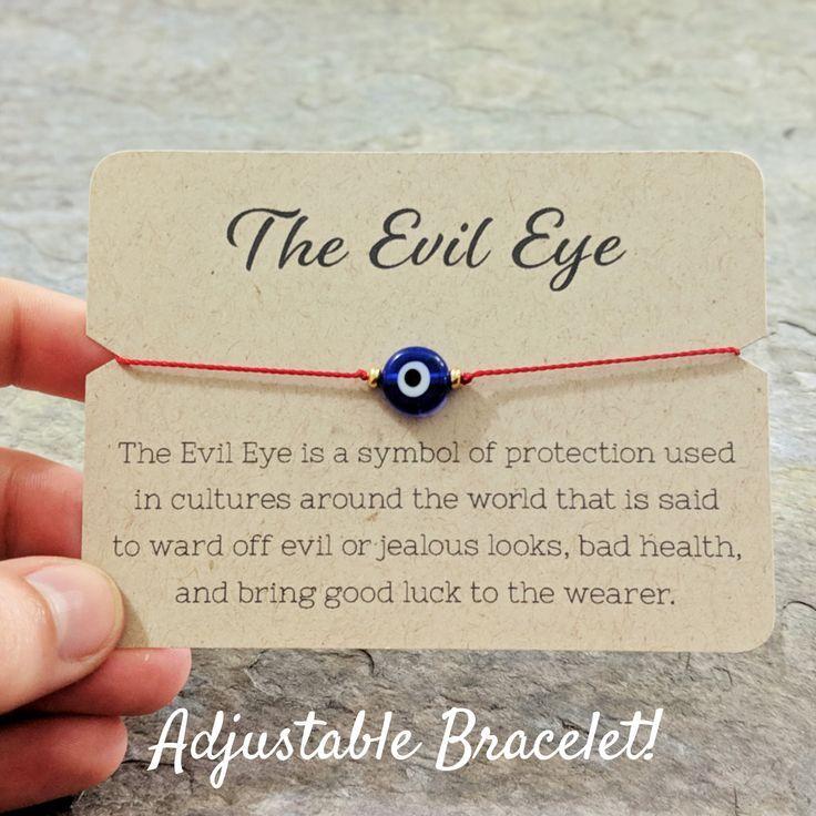 adjustable heart lucky eye good luck bracelet evil eye protection Evil eye amulet good luck red string wristband good luck charm