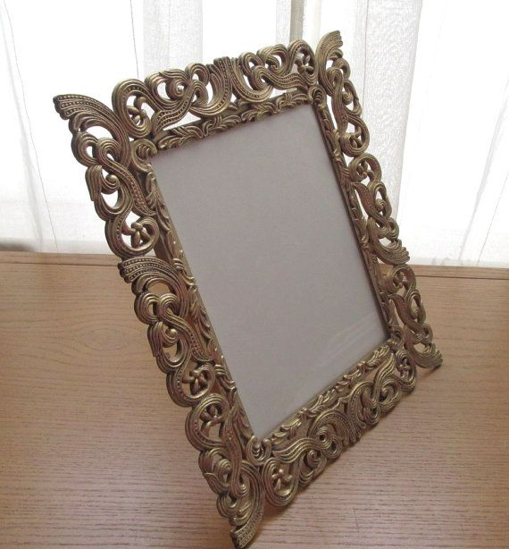 11x14 Picture Frame 1960s Vintage Resin Picture Frame Egyptian Revival Wedding Photo Frame 11x14 Gold Frame Standing Easel Style Frame Frame 11x14 Picture Frame Framed Wedding Photos