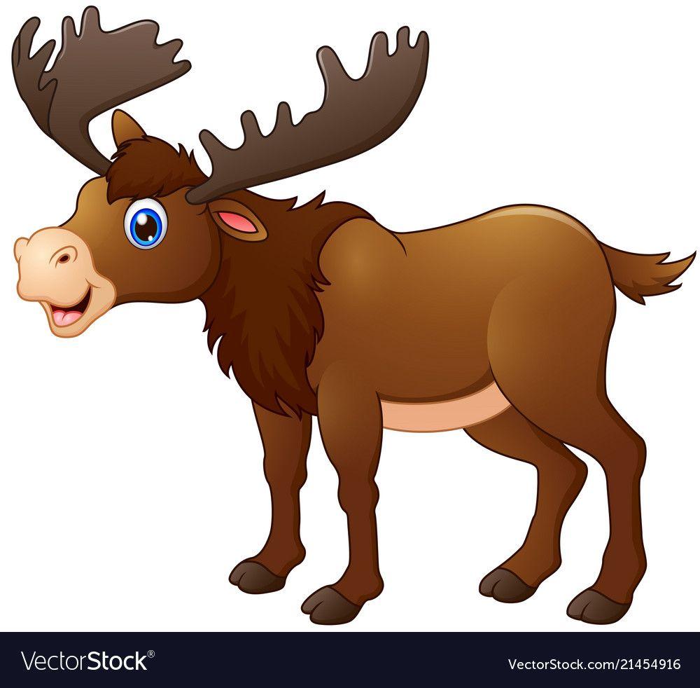 Moose Clipart | Moose cartoon, Moose illustration, Reindeer drawing
